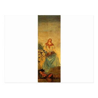 The Four Seasons, Summer by Paul Cezanne Postcard