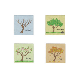 The Four Seasons Winter Spring Summer Fall Magnets Stone Magnet