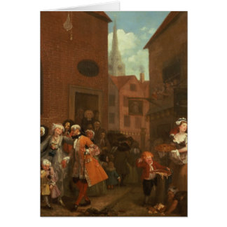 The Four Times of Day: Morning, 1736 Greeting Card