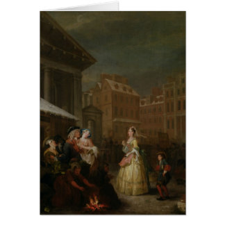 The Four Times of Day: Morning, 1736 Card