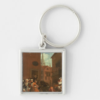 The Four Times of Day Morning 1736 Key Chain