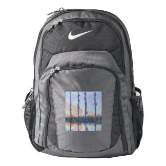 The Four Trees by Claude Monet Backpack