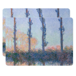 The Four Trees by Claude Monet Card