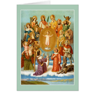 The Fourteen Holy Helpers Card