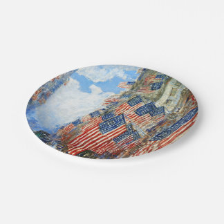 The Fourth of July by Childe Hassam Paper Plate