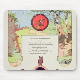The fox and the grapes mouse pad
