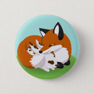 The Fox and the Rabbit 6 Cm Round Badge