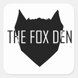 """""""The Fox Den"""" Square Sticker"""