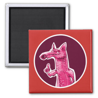 the fox gives some advice funny cartoon magnet