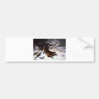 The Fox in the Snow by Gustave Courbet Bumper Sticker
