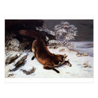 The Fox in the Snow by Gustave Courbet Postcard