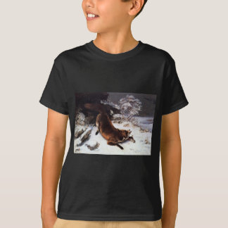 The Fox in the Snow by Gustave Courbet T-Shirt