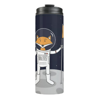 The Fox on the Moon Thermal Tumbler