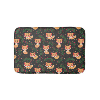 The Fox Pattern Bath Mats
