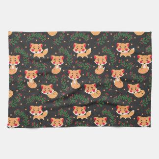 The Fox Pattern Kitchen Towels