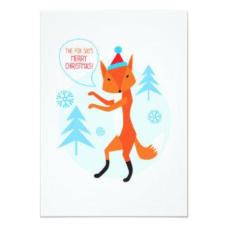 the Fox says Merry Christmas! 13 Cm X 18 Cm Invitation Card