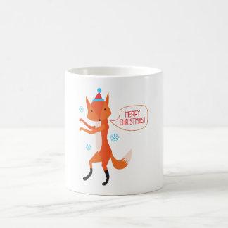 The Fox says Merry Christmas! Basic White Mug