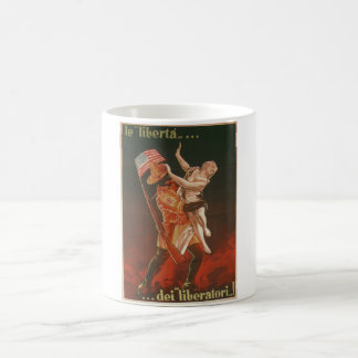 The freedom of the liberators Propaganda Poster Coffee Mug