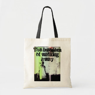 The freedom of walking away tote bag