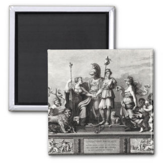 The French Constitution Square Magnet