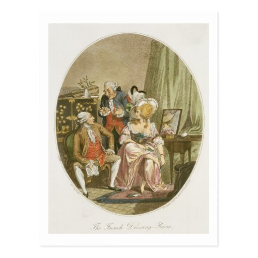 The French Dressing Room, engraved by P.W. Tomkins Post Card
