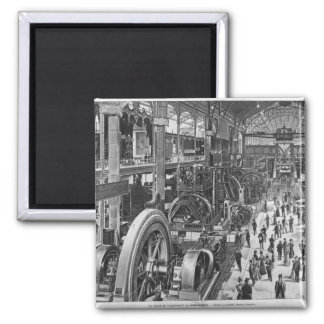 The French Electrical Machinery Gallery Square Magnet