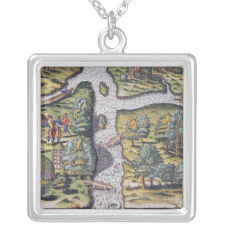 The French left at Fort Charles suffering Silver Plated Necklace