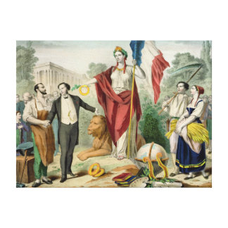 The French Republic Stretched Canvas Print