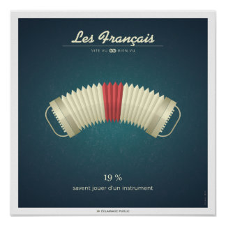 The French who play of a musical instrument Poster