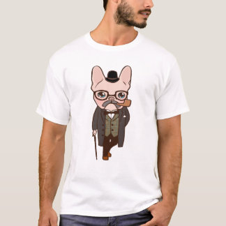 The Frenchie gentleman takes a walk after the spri T-Shirt