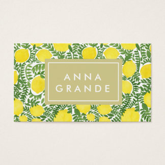 The Fresh Lemon Tree Business Card