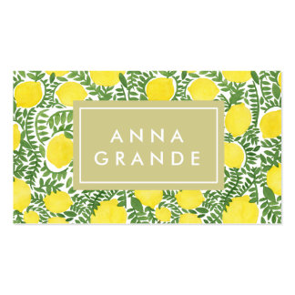 The Fresh Lemon Tree Pack Of Standard Business Cards