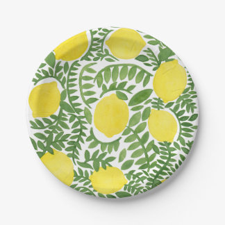 The Fresh Lemon Tree Paper Plate