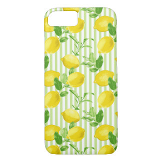The Fresh Striped Lemon Vector Seamless Pattern iPhone 8/7 Case