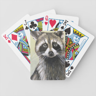 The Friendly Raccoon Bicycle Playing Cards