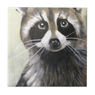 The Friendly Raccoon Ceramic Tile