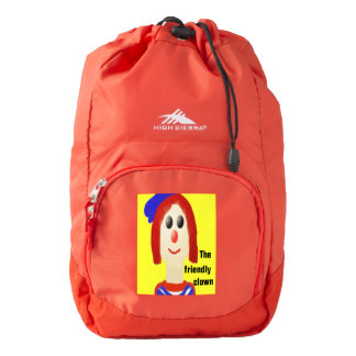 The friendly red-headed clown backpack
