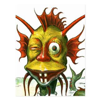 The Friendly Sea Monster Postcard