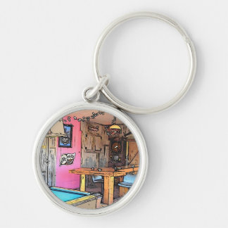 The Friendship Bar Silver-Colored Round Key Ring
