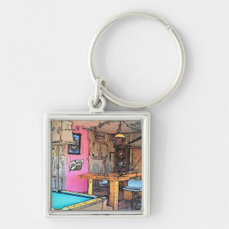 The Friendship Bar Silver-Colored Square Key Ring