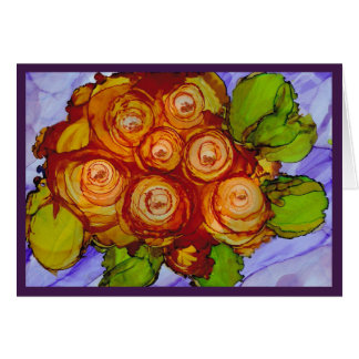 """""""The Friendship of Yellow"""" - Alcohol Ink Art Card"""
