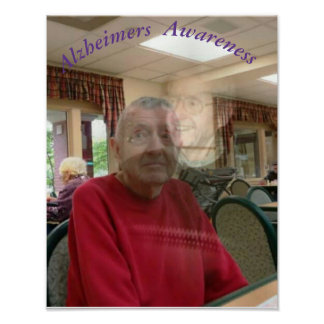 The Frightened Expression of Alzheimers Disease Poster