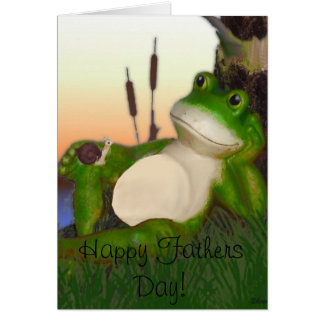 The Frog and the Snail Fathers Day Card