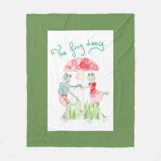 """""""The Frog Dance"""" Fleece Blanket Medium"""