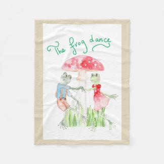 """""""The Frog Dance"""" Fleece Blanket Small"""