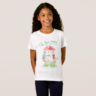 """The Frog Dance"" Girls' Fine Jersey T shirt"