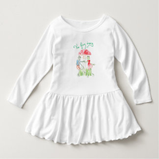 """The Frog Dance"" Toddler Ruffle Dress"