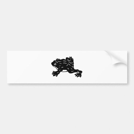 The frog frog the goods cutting picture FROG which Bumper Stickers