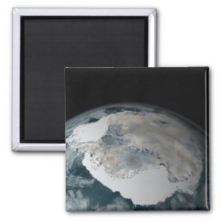 The frozen continent of Antarctica Square Magnet