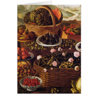 The Fruit Seller in detail by Vincenzo Campi Card